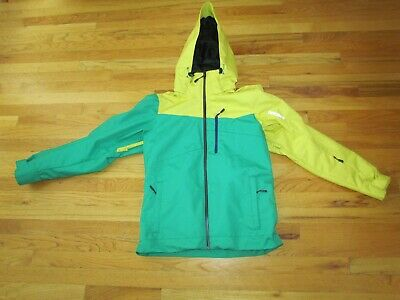 $140 • Buy Descente Men's Green/Yellow Ski Snow Winter Jacket Size Medium Hooded