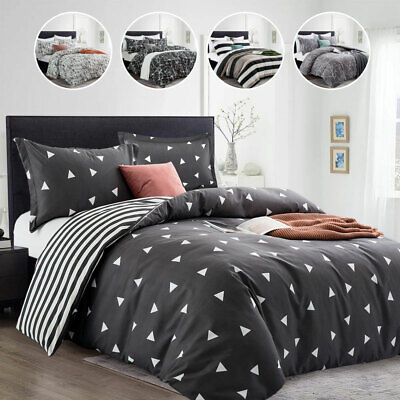 £23.10 • Buy Duvet Cover Bedding Set With Pillowcases & Fitted Sheet Single Double King Size