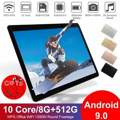 AU127.79 • Buy 10.1 Inch Bluetooth Tablet 8+512G Android 9.0 Deca Core Dual Camera Wifi Phablet