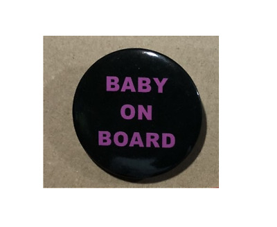 Baby On Board BUTTON PIN BADGE 38mm 1.5 INCH Pregnant London Black • 1.98£
