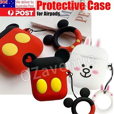 AU6.75 • Buy Cute Cartoon 3D Silicone Airpod Protective Case Cover Skin For Apple Airpods 1 2