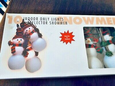 $14.99 • Buy 5 Vintage Light Up Snowmen Christmas Indoor Decoration Xmas Party Decor Novelty