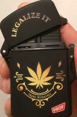 £3.99 • Buy Prof Legalise It Electronic Turbo Jet Flame Gas Refillable Cigarette Lighter