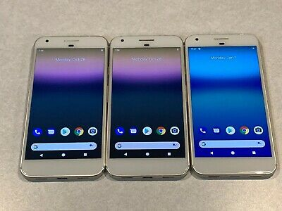 $ CDN260.90 • Buy Lot Of 3 Google Pixel XL G2PW2100 32GB Silver Factory GSM Unlocked Smartphones *