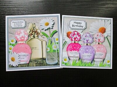 £1.50 • Buy  2 X  Daisy Designer Perfume Birthday  Card Toppers (NEW SIZE)