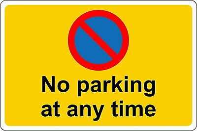 £2.99 • Buy Keep Clear No Parking At Any Time Safety Metal Park Safety Sign