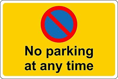 Keep Clear No Parking At Any Time Safety Metal Park Safety Sign • 2.99£