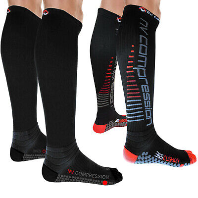 NV Compression 365 Cushion Socks (Pair) 20-30mmHg Sports Recovery DVT • 12.97£