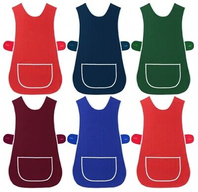 Ladies Women Tabard Apron Overall Kitchen Catering Cleaning Bar Plus Size Pocket • 4.95£