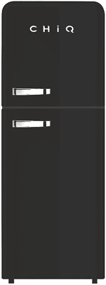 AU649 • Buy CHiQ 216 Litre Retro Style Top Mount Fridge Freezer (Black) Model: CRTM213B