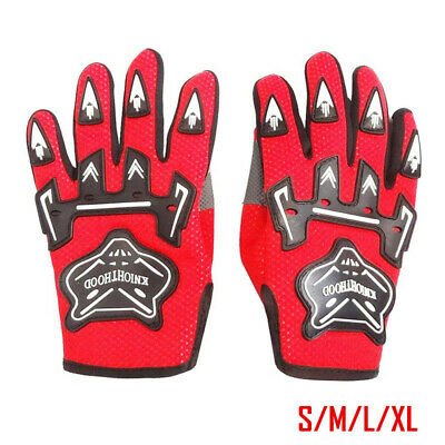 AU9.56 • Buy Red Kids Youth Gloves Motorbike Motocross MX ATV Quad Dirt Trail Pit Bike