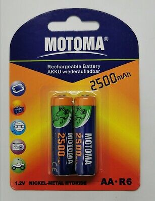 AU9.50 • Buy 2500mAh AA R6 Rechargeable Battery NI-MH 1.2V Recharge Batteries