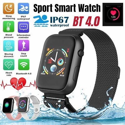 AU43.86 • Buy Bluetooth Smart Watch Heart Rate Blood Pressure Monitor For IPhone IOS Android