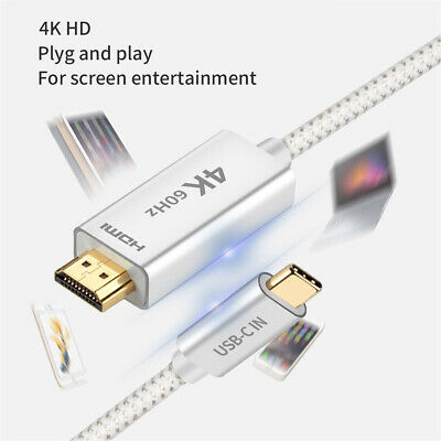 AU46.54 • Buy USB 3.1 Type C USB-C To 4K@60Hz HDMI Adapter Cable For 2019 MacBook Samsung S20+