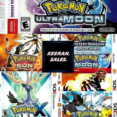 $7.90 • Buy Pokemon 3DS Nintendo -  Replacement Case * NO GAME * Case Only Reproduction