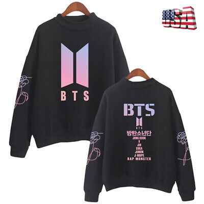 $14.99 • Buy Womens BTS Hoodies Pullover Sweatshirt Casual Kpop Spring Autumn Fans Clothes