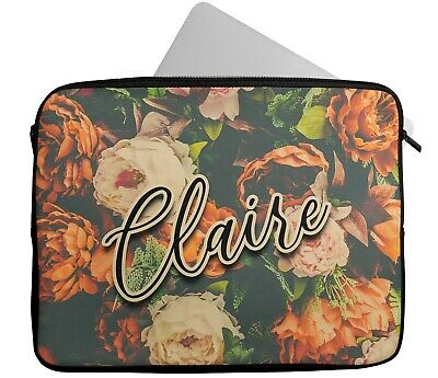 £15.99 • Buy Personalised Any Name Floral Laptop Case Sleeve Tablet Bag Chromebook Gift 6
