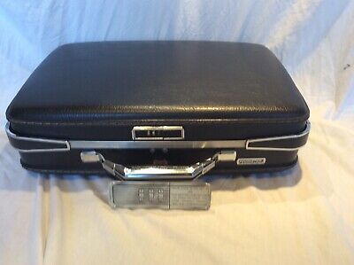 View Details Vintage Suitcase American Tourister Luggage Black Travel Overnite • 53.14$