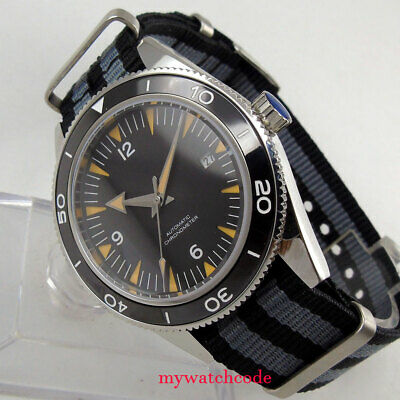 $ CDN114.70 • Buy 41mm CORGUET Miyota Automatic Mens Watch Black Dial Ceramic Bezel Sapphire Glass
