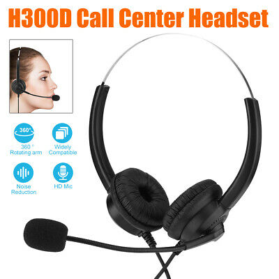 £10.93 • Buy Call Center Headset Customer Service Headphone Noise Reduction With Microphone