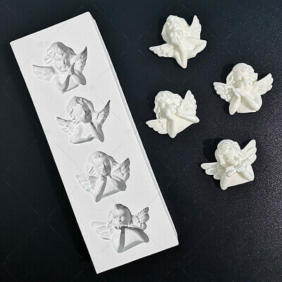 £3.85 • Buy Angel Silicone Fondant Mold Chocolate Cake Bakeware Topper Cupcake Sugar Mould