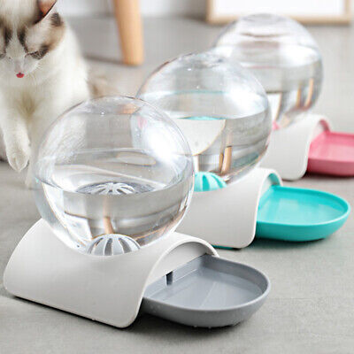 2.8L Large Automatic Pet Cat Dog Drink Water Dispenser Drinking Bowl Feeder Dish • 13.99£