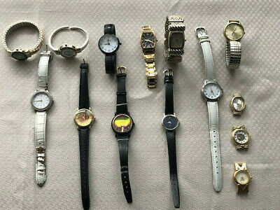 $ CDN14.99 • Buy Mixed Quartz Watch Lot, Mostly Unbranded, Running - For Parts Or Resale