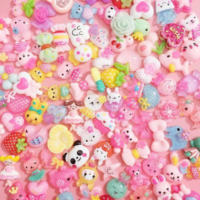 20 PCS Mixed Kawaii Resin Cabochons Cute Decoden Craft Charms Flatbacks Pastel • 1.99£
