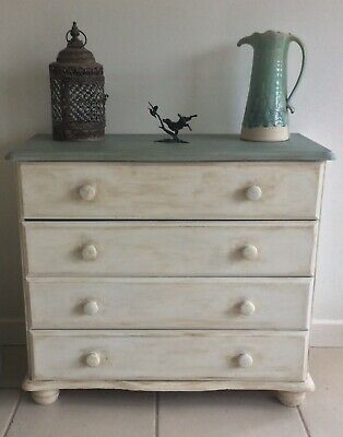 Shabby Chic Style Annie Sloan Painted Chest Of Drawers • 110£