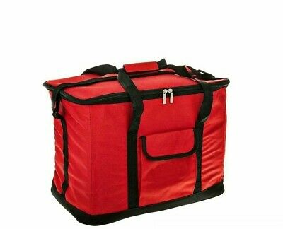 Extra Large Cooling Cooler Cool Bag Box Picnic Camping Food Ice Drink Red 60l • 10.99£
