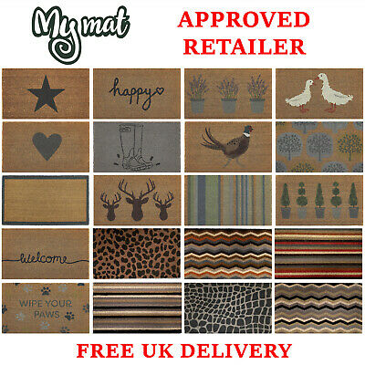 £14.99 • Buy My Mat & Hug Rug Coir Patterned Animal Love Christmas Quirky Indoor Outdoor Gift