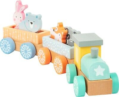Legler Small Foot Wooden Train With Animals Push Along Wooden Toy • 19.49£