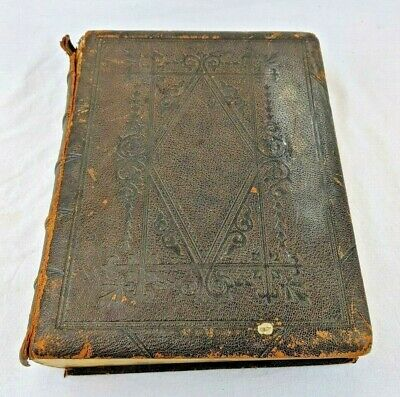 Antique - 1873 The Holy Bible - G.E. Eyre & William Spottiswoode - Approx 3.9kg • 29.99£