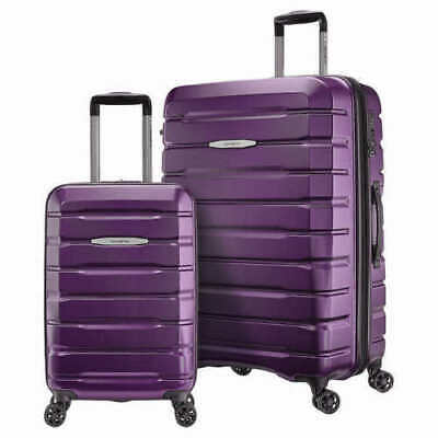 """View Details Samsonite Two Piece Luggage Set W/ A 27"""" Spinner Suitcase & 21"""" Carry On Purple • 90.00$"""