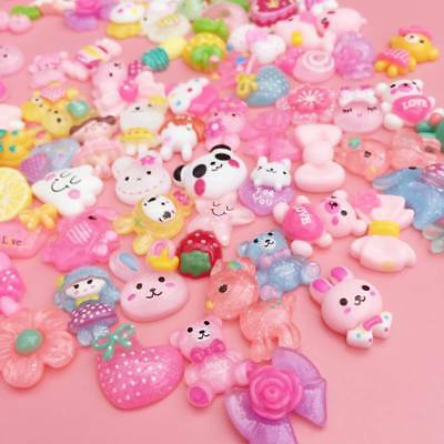 Mixed Kawaii Resin Cabochons All Different Cute Decoden Craft Charms Flatbacks • 1.49£