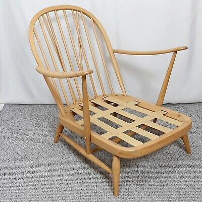 Ercol Windsor 203 Armchair Refinished Authentic Vintage Excellent Condition ✭ • 563£