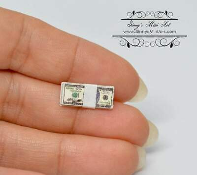 $5.12 • Buy 1:12 Dollhouse Miniature Stack Of Money BD H500