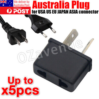 AU6.42 • Buy 3/5x USA US EU JAPAN ASIA To AU Australia Plug AC Power Adapter Travel Converter