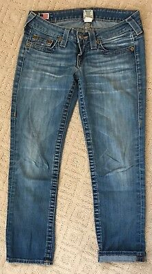 $9.99 • Buy True Religion LIZZY Cropped Jeans Size 26 Medium Wash Women's Low Rise