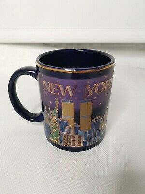 New York City Coffee Mug With The Twin Towers Cup Collectable • 16£