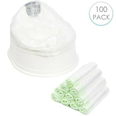 100 X Disposable Travel Potty Liners Portable Training Toilet Seat Leak Proof • 10.49£