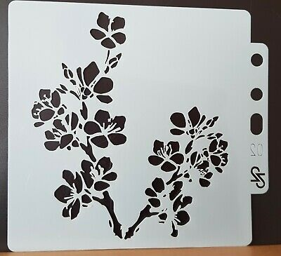 £2.99 • Buy Cherry Blossom Stencil, Flowers Floral, Mask, Mixed Media – BNIP - FREE P & P