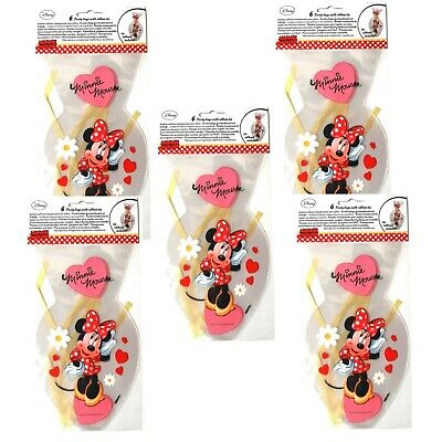 30 Disney Minnie Mouse Party Bags With Ribbon Tie - Favor Bags Birthday Gift  • 3.99£