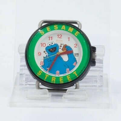 $ CDN36 • Buy Seiko Alba Quartz Sesame Street Cookie Monster Watch For Parts Or Repair Japan