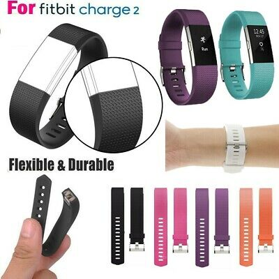 $ CDN6.99 • Buy Silicone Watch Wrist Sports Strap For Fitbit Charge 2 Band Wristband Replacement