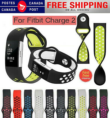 $ CDN11.99 • Buy For Fitbit Charge 2 Replacement Strap Sports Soft Bracelet Watch Wristband Band