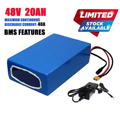AU512.95 • Buy 48V 20Ah Lithium Battery For 1500W 2000W Electric Bike EBike Kit With Charger
