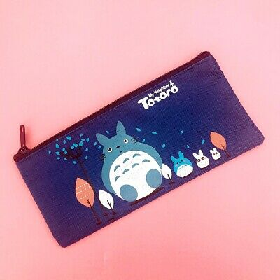 NEW Cute Totoro Pencil Case Kawaii Animals Anime Zip Pouch Pencilcase Stationery • 1.99£
