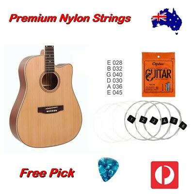 AU9.95 • Buy Nylon Guitar Strings Acoustic Classical Orphee Premium Universal 28-45 Free Pick