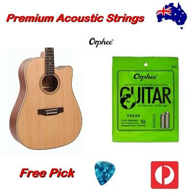 AU8.95 • Buy Acoustic Guitar Strings Steel Orphee Premium Universal Light Free Pick
